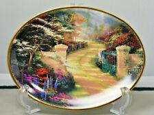 "Thomas Kinkade Perpetual Calendar Plate ""Gifts from God's Garden"" February"