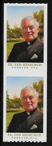 US Scott #5242, COIL PAIR 2017 Ted Hesburgh VF MNH