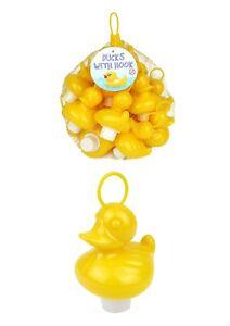 Neon Yellow Hook A Duck Hard Plastic Toy Fishing Bath Time Floating School Fete