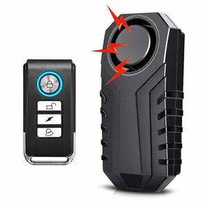 UK 113dB Wireless Anti-Theft Vibration Motorcycle Bike Security Alarm Remote Set