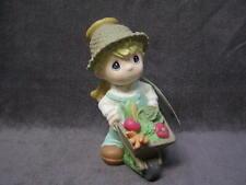 "2004 Angel Boy W/Wheelbarrow 10"" Precious Moments Garden Statue Sam Butcher"