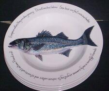 Richard Bramble Jersey Pottery Sea Bass Deep Dish Dinner Plate New