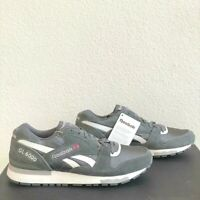 Reebok GL 6000 Mens Size 8.5 Gray White Retro Suede Classic Sneakers V45337 New