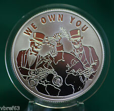"""2015 Silver Shield """"WE OWN YOU"""" -  99.9% silver PROOF -#12  Pyramid of Power"""