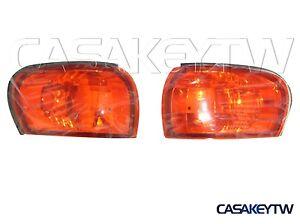 GC8 Crystal Amber Corner Lights Lamps 1995-2000 E-MARK For SUBARU IMPREZA CC8A