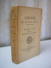 Hippolyte LUCAS : CHANTS de divers pays Bibliophiles Bretons 1893