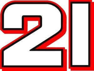 NEW FOR 2021 #21 Matt DiBenedetto Racing Sticker Decal - SM thru XL - Var colors