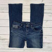Apt 9. Baby Boot Leg Jeans Size 6 Womens Modern Fit Button Flap Pockets Bootcut