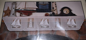 Heritage Lace Set Sail Mantle Scarf 19 X 92 White New Made in USA