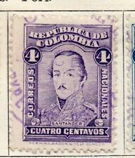 Colombia 1917 Early Issue Fine Used 4c. 139734