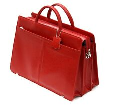 Aktentasche Laptoptasche Tragetasche Business Leder rot, G-536C