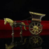Old copper handmade pendant wagon Horse Home decoration