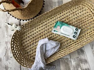Natural Woven Wicker Baby Changing Table Basket - Rustic Scandi Nursery Decor