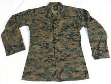 USMC  Woodland Digital Camo Military Tactical BDU Blouse Size Small Long