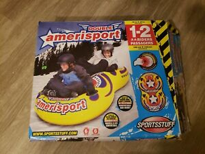 """Inflatable 78"""" Double Amerisport Snow Pool Beach Tube with Handles New"""