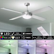 LED De Techo Lámpara Ventilador Regulador Luz Enfriador RGB Mando Temporizador
