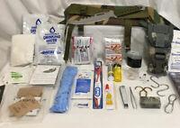 S-2 Military Waist Pouch Emergency Survival Starter Kit Knife 1st Aid Flashlight