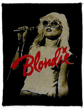 BLONDIE COTTON PATCH SEW ON DEBBIE HARRY SEPIA NEW WAVE AMERICAN PUNK CBGB