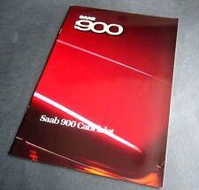 SAAB 900 CABRIOLET  1986 ORIGINAL UK BROCHURE