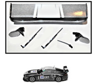 NEW Scalextric W9830 Rear Wing Spoiler Mirrors Wipers For Jaguar XKR GT3 C2978