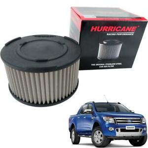 2012+ Fit Ford Ranger T6 Mk2 Wildtrak Xlt Hurricane Stainless Air Flow Filter