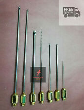 Liposuction Luer Lock Cannula Set of 7 Fat Transfer Plastic Surgery