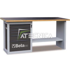 Banco da lavoro con cassettiera 6 tiretti Beta C59A Grigio piano in legno 1500Kg