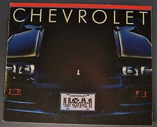 1983 Chevrolet Brochure Camaro Corvette Caprice Monte Carlo Cavalier Chevette 83