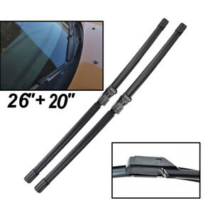 2X Front Windscreen Wiper Blades For Volvo C30 S40 S60 V50 S80 C70 V70 XC70 XC60