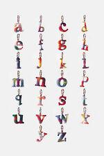 """NIP Anthropologie Felt Letter """"s"""" Tie Dye Monogram Christmas Ornament GREAT GIFT"""