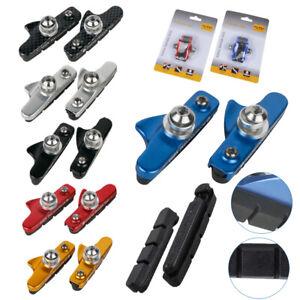 2 Pair MTB Bike V Brake Shoe Pad C Brake Blocks for Shimano Campagnolo SRAM