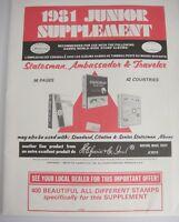 Harris 1981 Junior Worldwide Stamp Album Supplement X101S Statesman Ambassador