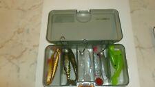SAVAGE GEAR LURE BOX and 10 X SHADS 7CM LURES AND 3 X  BALL JIG HEADS
