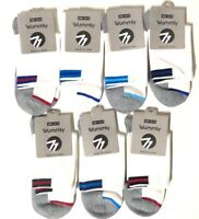 Wummly Men's Socks White Sock Size 10-13 1 Pair Various Colors Hi Ankle Quarter