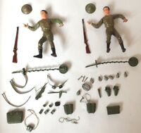 "2x vintage ALL BRITISH FIGHTER 5.5"" LOUIS MARX TOYS 1960s WWII PRE-BUDDY"