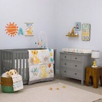 3pc Disney Baby Crib Bedding Lion King Circle of Life Baby Comforter Set New