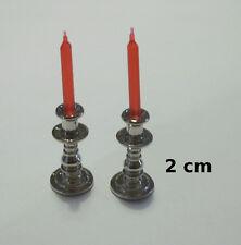 lot de 2 chandelier avec bougie,miniature,maison de poupée,vitrine,bougeoir CL10