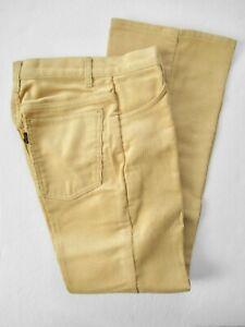 NWOT Rare Vtg LEVI'S Big E Sta-Prest Corduroy Flare Pants w/ Talon Zipper W26.5
