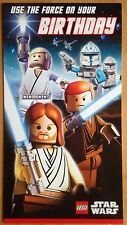 "'Use The Force' Lego Star Wars Birthday Card  - 9"" x 5"" - General / Open"