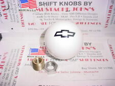 Chevrolet Bowtie, Custom Shift Knob, GM Licensed (White )