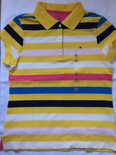 New Tommy Hilfiger Girls Striped Short Sleeved T-Shirt Girls XL 10-12 Years
