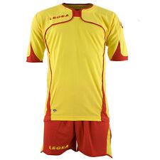 Stock completo calcio /volley/calcetto LEGEA GIALLO ROSSO tg. L MODELLO SETUBAL