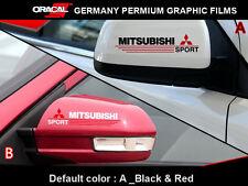 Pair MITSUBISHI SPORT RALLY EVO LANCER evolution JDM Car vinyl Mirror Sticker