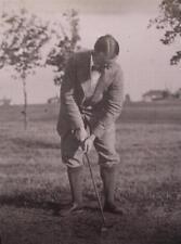 Negative Glass Slide 1920's Funny Long Socks Man Playing Golf Cape Cod Fun Hair