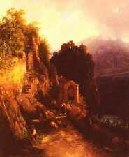 ENDER Thomas Alpin Landschaft stampa in A4