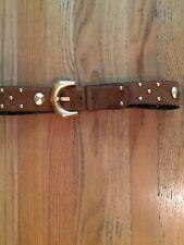 ESCADA Vintage brown suede belt with gold hardware, size 40