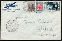 985 - Colonie, Eritrea - 3 colori e annullo Debre Tabor su busta via aerea, 1937