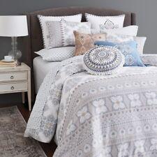 Bloomingdale's Sky Medera Cotton KING Duvet Cover & Shams Set Bedding $270 D919