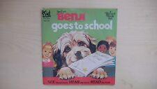 "Kid Stuff Record BENJI GOES TO SCHOOL Book & Record 7"" 33rpm 1982"