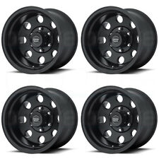 16x8 American Racing AR172 Baja 6x114.3/6x4.5 0 Satin Black Wheel Rim set(4)